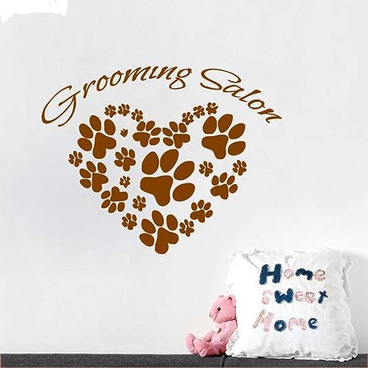 Peluquería para mascotas Salón Etiqueta de la pared Patas de perro ...