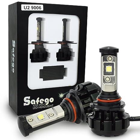 Safego 2x 9006 HB4 Faro Bombillas Alquiler de luces LED W 8000LM brillante estupendo de la