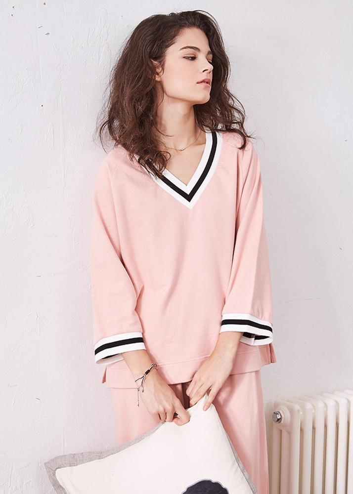 Mujer , Algodón Conjunto 2 de pijamas Señoras 2 Ropa piezas Escote ...