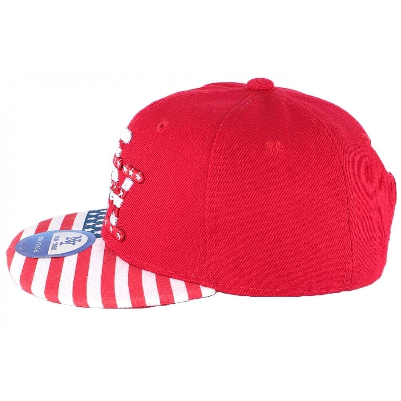 222fd69ad420 Hip Hop Honour Casquette NY Enfant Rouge drapeau USA à partir de 6 ans -  Enfant  Amazon.fr  Vêtements et accessoires