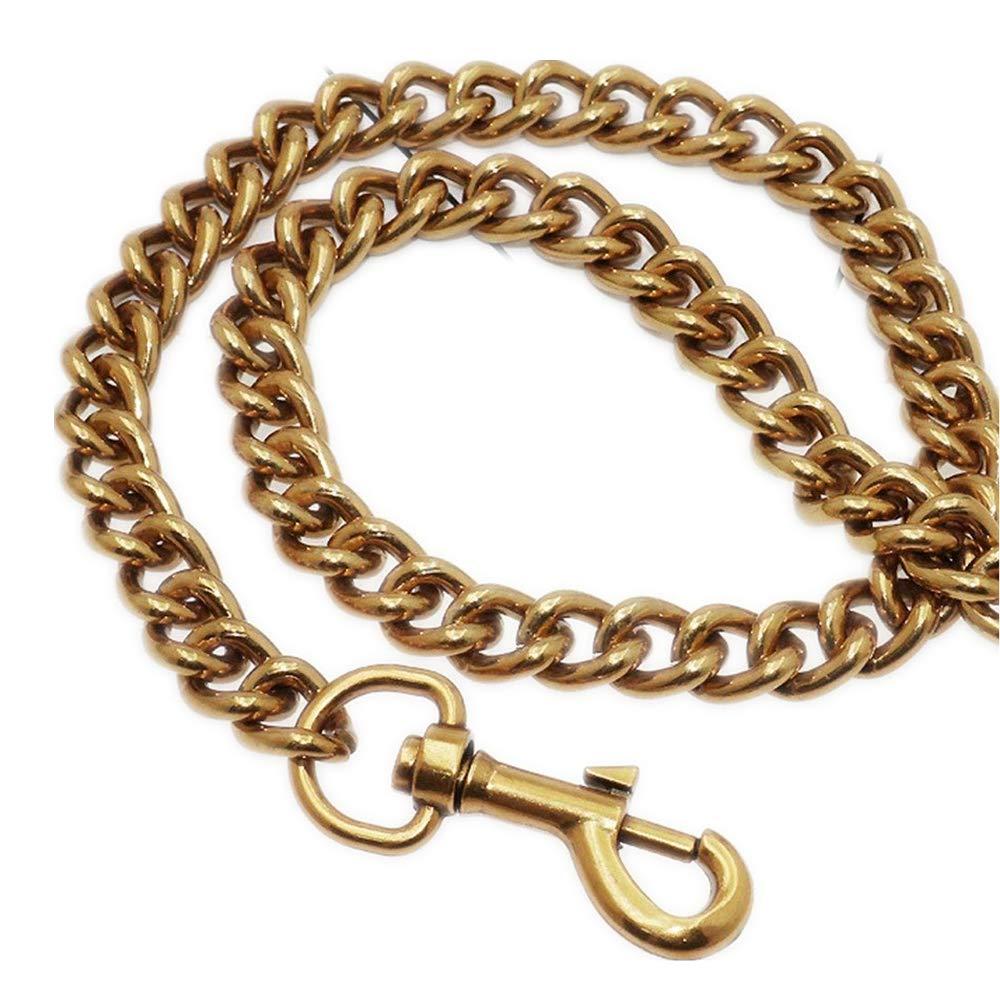 Width 13mm Golden Aluminum Metal Purse Metal Chain for Messenger Bags Replacement Purse Strap/Bag Strap/Handbag Straps/Shoulder Strap DIY (47 inch)
