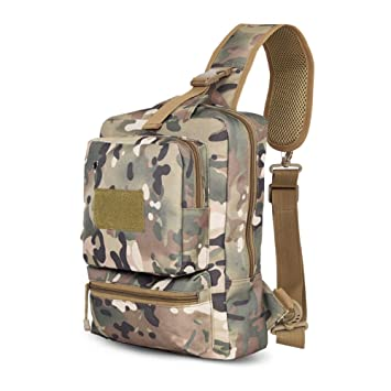ZHANGRONG Outdoor Chest Men 's Messenger Bag Casual Squad Multi functional Backpack Pockets Shoulder Bags Multiple Colors Available Color 1 B073FFQ5SK