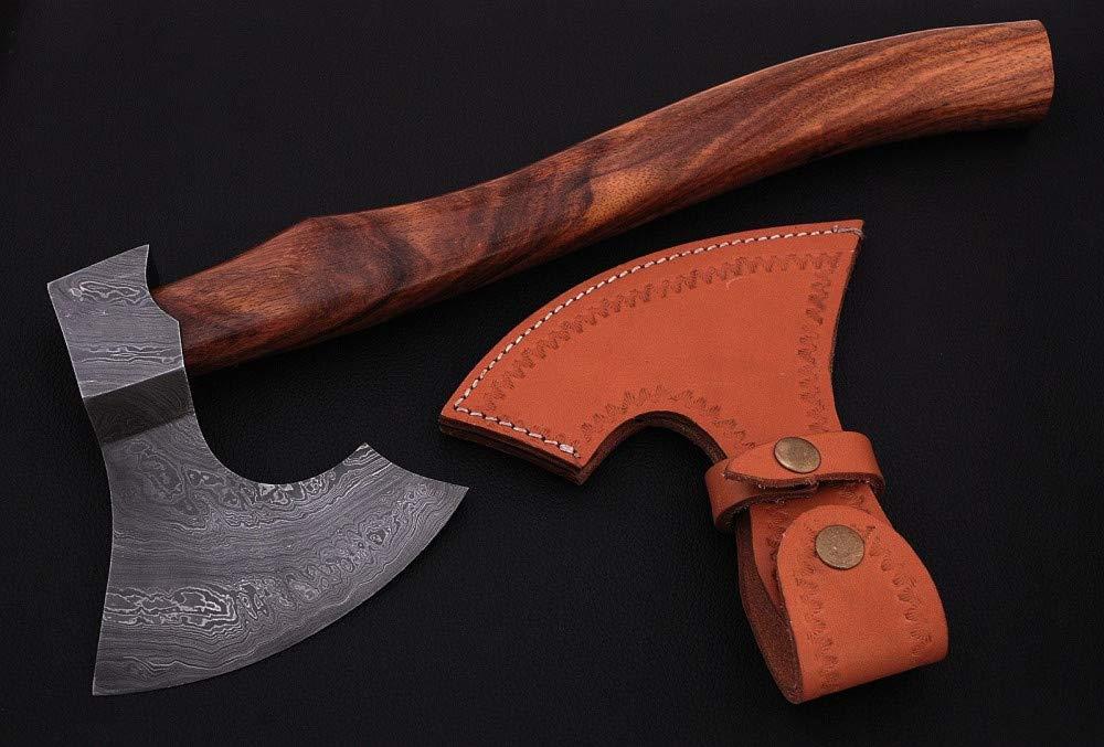 Hand Forged Damascus Steel Hatchet Hawks Tomahawk Axe DF70