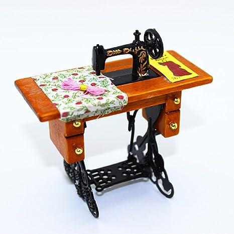 Tijeras para máquina de coser en miniatura para muebles en miniatura, diseño de casa de