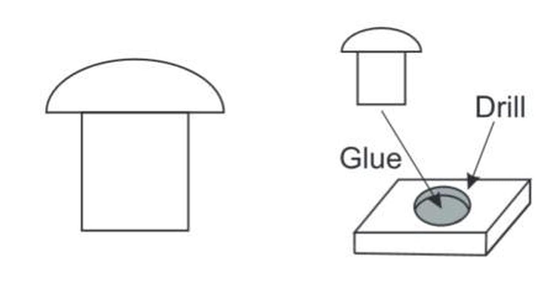 Plus Model 477-1:35 Zubehör Rivets 0,9 mm