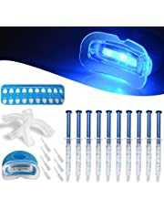 Teeth Whitening Kit,Fencia Dental Bleaching System Tooth Whitener with Led Whitening Light and Whitening Gel