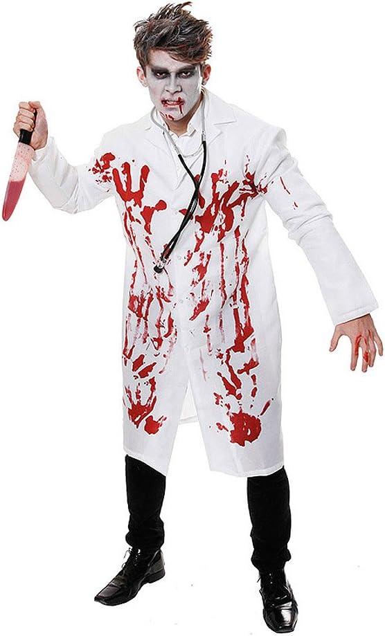 ZOMBIE DOCTOR NURSE ADULT MENS SURGEON FANCY DRESS HALLOWEEN COSTUME