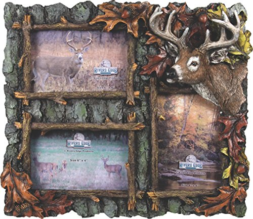 River's Edge Products 3 Picture Deer Frame by River's Edge Products