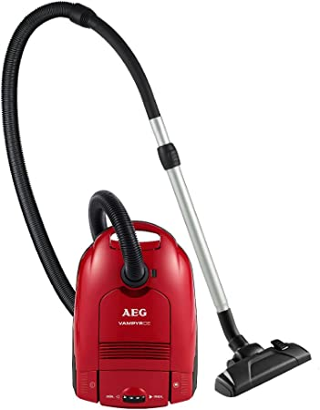 AEG CE2300HFE+ Aspirador con bolsa Vampyr AA con cepillo especial para parquet, 800 W, 3.5 litros, 81 Decibelios, Rojo sandía: Amazon.es: Hogar