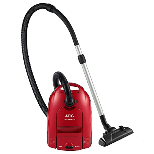 AEG CE2300HFE+ Aspirador con bolsa Vampyr AA con cepillo especial para parquet, 800 W, 3.5 litros, 81 Decibelios, Rojo sandía