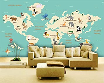 Amazon beibehang custom any size 3d wallpaper mural animal beibehang custom any size 3d wallpaper mural animal world map childrens room tv background wall 3d gumiabroncs Gallery