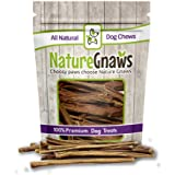 """Nature Gnaws Extra Thin Pork Bully Sticks 5-6"""" (50 Pack) - 100% All-Natural Premium Dog Chews - For Small Breeds & Light Chewers"""