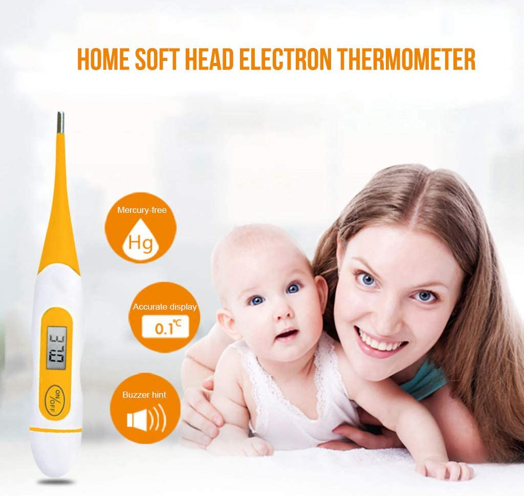 AutumnFall Child Adult Body Digital LCD Thermometer Temperature Measurement USSP for Baby//Adult//Kid//Toddler//Infant//Nurse