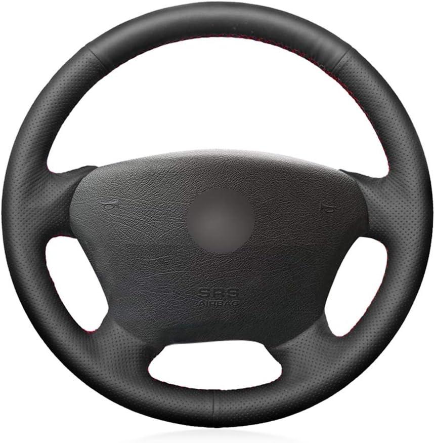 ZYTB Para Coser a Mano Negro Cubierta del Volante para Mercedes ...