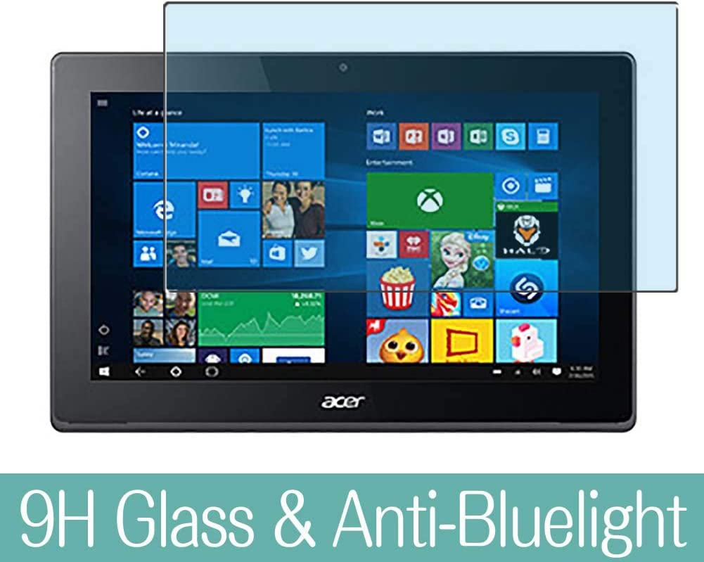 """Synvy Anti Blue Light Tempered Glass Screen Protector for Acer Aspire Switch 11 SW5-173 / SW5-173p 11.6"""" Visible Area 9H Protective Screen Film Protectors (Not Full Coverage)"""