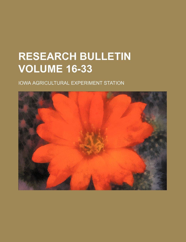 Download Research bulletin Volume 16-33 PDF