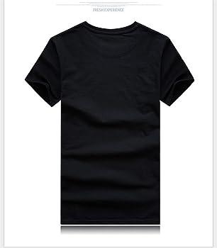 Camisetas de Manga Corta 3D Impresas Camisetas Hombre Casual Creativas Algodón Patrón de Animal Cuello Redondo Tallas Grandes Camisas para Hombre Verano (M, Orangutanes B Negro): Amazon.es: Ropa y accesorios