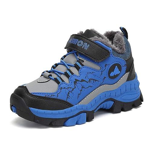 82dabd839ec Botas de Invierno para niños Antideslizantes Zapatos de Trekking para niños  Calzado Casual y cálido Botines de algodón de Felpa Zapatillas de Deporte  para ...