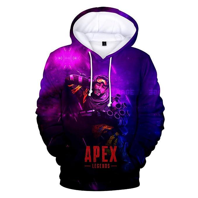 W&Z Apex Legends sudaderas sudadera hoody Pullover 3D impresión juego ropa para unisex,Mirage,