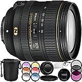 Nikon AF-S DX NIKKOR 16-80mm f/2.8-4E ED VR Lens 9PC Accessory Bundle – Includes Manufacturer Accessories + 3 Piece Filter Kit (UV + CPL + FLD) + MORE (Certified Refurbished)