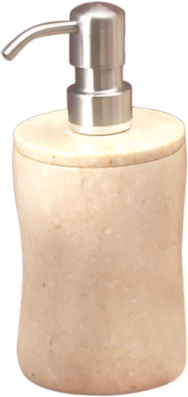 Creative Home Natural Champagne Marble Bath Liquid Soap Dispenser - Curvy Shape