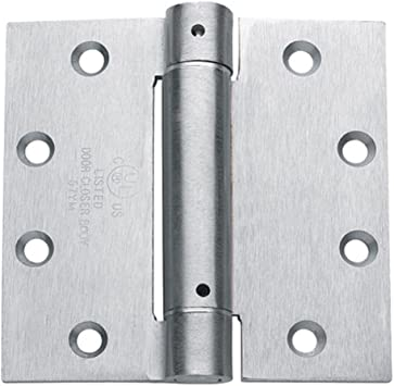 2 Pack Adjustable Self Closing 4 Inch with 1//4 Inch Radius Hinge Outlet Spring Hinges Satin Nickel