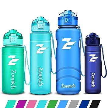 ZOUNICH Botella Deportiva bpa Reutilizable tritan plástico - Filtro Protector no tóxico - 500 ml/17 oz, 700 ml/24 oz /, 1000 ml/32 oz, 1200ml/40 oz - ...