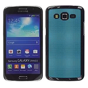 // PHONE CASE GIFT // Duro Estuche protector PC Cáscara Plástico Carcasa Funda Hard Protective Case for Samsung Galaxy Grand 2 / LIGHT BLUE DOTS /