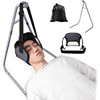 Head Relief Hammock Neck Sling Support for Pain Relief, Portable Cervical Traction Device with Hammock Stand