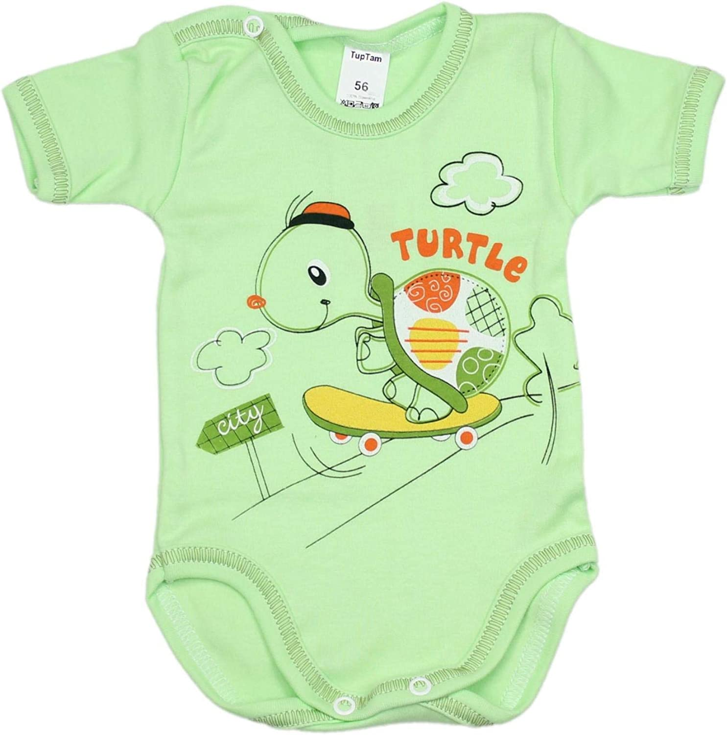 TupTam Baby Short Sleeve Bodysuits Printed Pack of 5