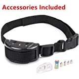 No Bark Dog Collar, Extremely Effective & No Pain or Harm Dog Bark Control 7 Levels of Sensitivity Adjustment Dog No Bark Training Devices for Medium Large Small Dogs 15-120 Pound Dogs by aHeemo