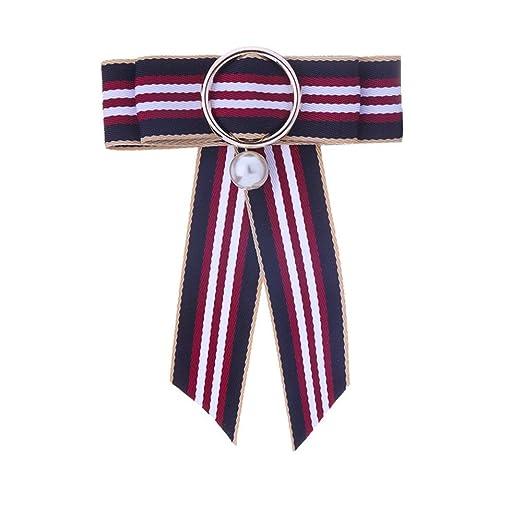 Neckchiefs Corbata de Mujer Bowknot Broche Cuello Corbata de Lazo ...