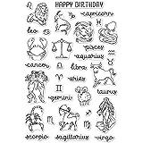 Amazon.com: Astrología Gráfico sello de hule Madera Monte ...