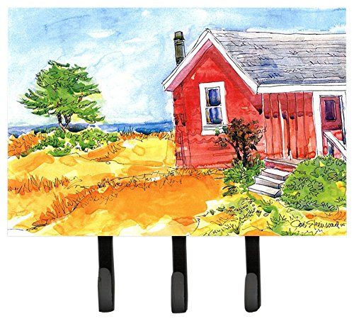 UPC 615872510283, Caroline's Treasures 6041TH68 Old Red Cottage House at The Lake or Beach Leash Holder or Key Hook, Large, Multicolor