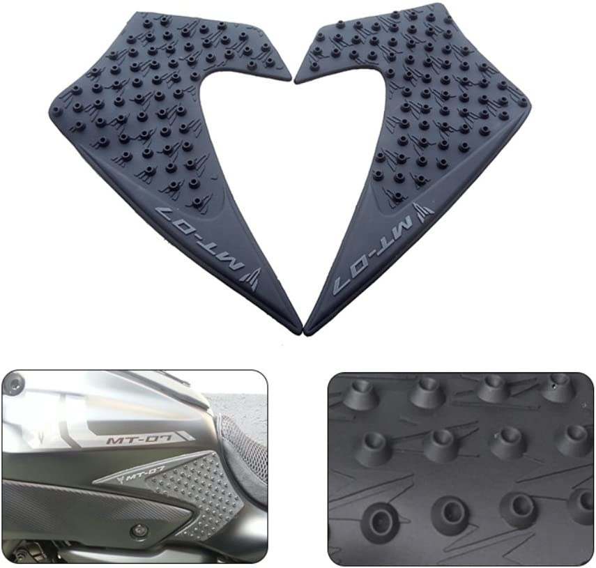 Motorcycle Rubber Tank Traction Pad Side Gas Knee Grip Protector for YAMAHA MT-07 2013-2017