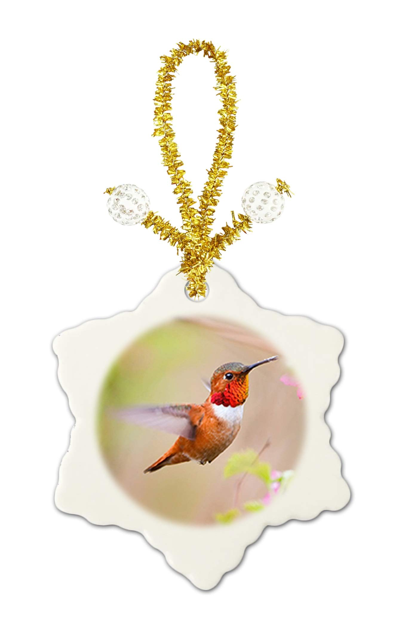 Caikem Hummingbird Custom Exquisite Snowflake Ceramic Piece Festival Porcelain Decoration