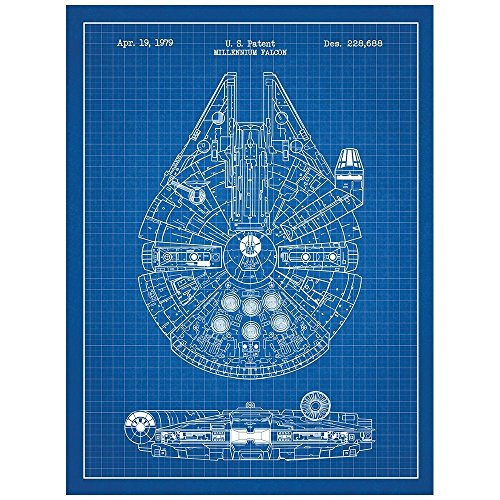 Inked and Screened Sci-Fi and Fantasy Star Wars Millennium Falcon - 1979