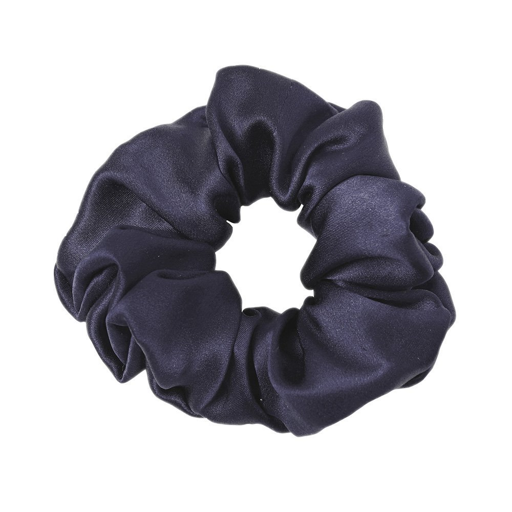 LilySilk Pure Silk Scrunchies Elastic Women's Hair Band 100% Silk Hair Ties, Silver Blue CA-6111-16