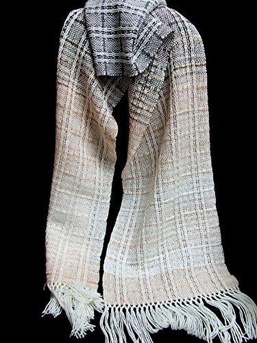 Wool mohair shawl hand woven shawl winter shawl handwoven scarf woman scarf Christmas gift brown scarf fashion scarf brown shawl woven wrap