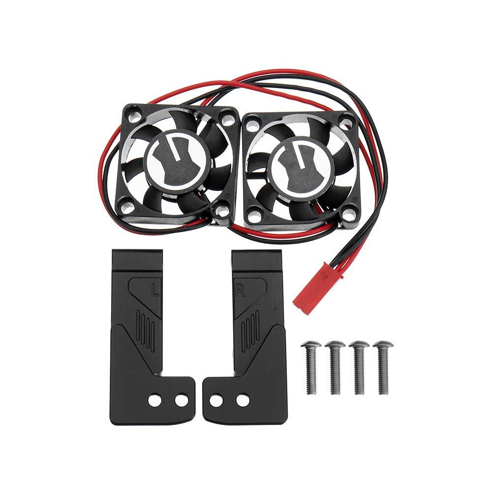 VIDOO L'Assunzione Sec Raffreddonnato Aria Griglia Simulazione Fan Kit per Trx4 1 10 Rc Auto Ricambi-Nero
