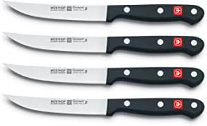 WÜSTHOF Gourmet Four Piece Steak Knife Set (Blister Pack) | 4-Piece German Knife Set | Precise Laser Cut High Carbon Stainless Steel Kitchen Steak Knife Set – Model 8464