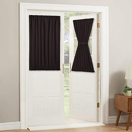Amazon Pony Dance Door Curtains Short Rod Pocket Blackout