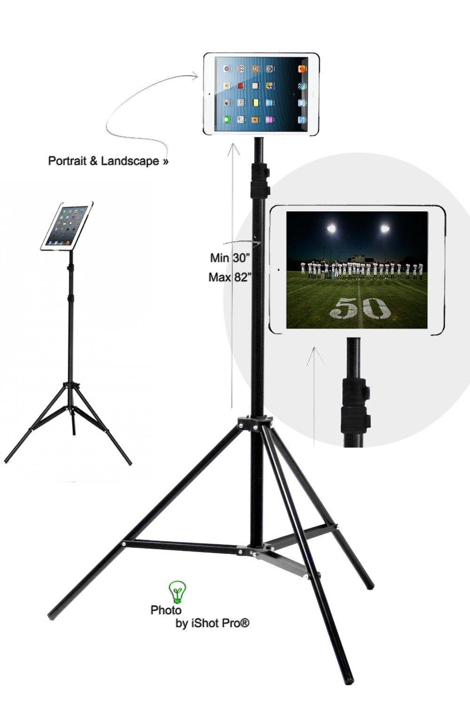 G8 Pro iPad mini 1, 2, 3 Tripod Mount and Stand + Medium Ball Head Combo Bundle Kit - Lightweight Foldbale and Portbale Aluminum Adjustable Music/Light Tripod Stand - Great for Coaches, Teachers, Musicians, Video, Photography, Presentions, Displays, Trade