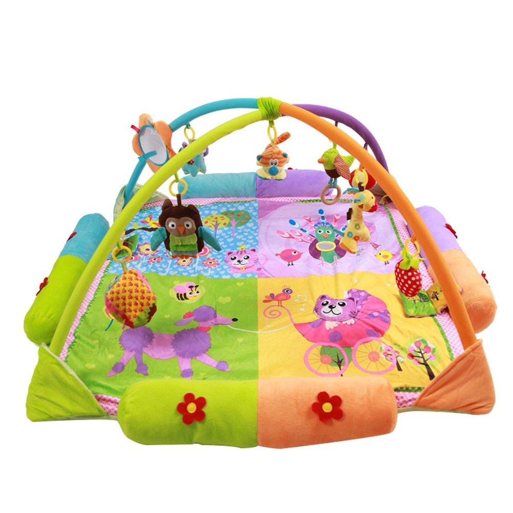 Flash- Alfombra para jugar / Marcos para ejercicio, 3-18 meses para niños pequeños Puzzle Discovery Alfombrilla para juegos / Tapetes para arrastrarse, bebé recién nacido Estante para ejercicios Gimnasio de actividades