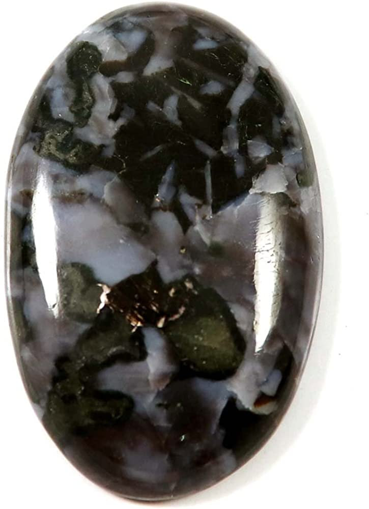 Pierres pr/écieuses et Jewelshub 47,80/cts Naturel Superbe design Gabbro Jasper Pierre pr/écieuse ovale Courroie cabochon