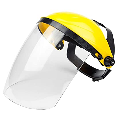 Safety Face Shield >> Cyberone Clear Polycarbonate Welding Face Shield Headgear Safety