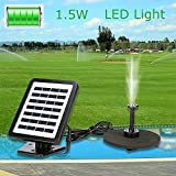 Solar Fountain Water Pump Kit With Battery Backup And LED Lights Solar Power Panel Upgraded Submersible Sprayer Pumps 7V/1.5W 180L/H