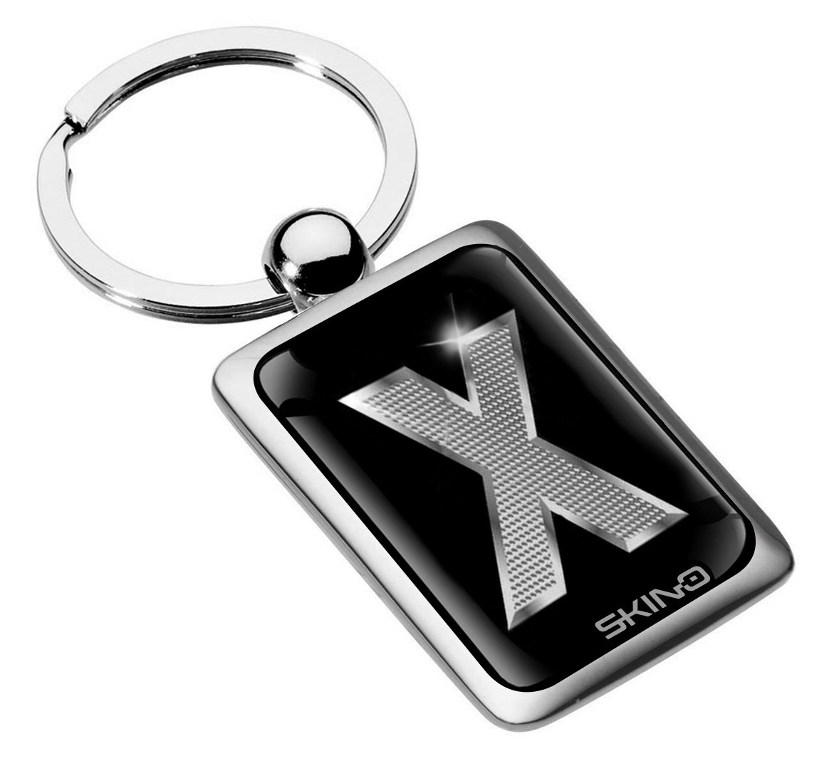 KK 90 L Portachiavi Metallo Lettera Regalo Iniziale Lettere Mazzo di Chiave Auto Moto Keychain Keyring Alfabeto Nome Acciaio Colore Argento Silver