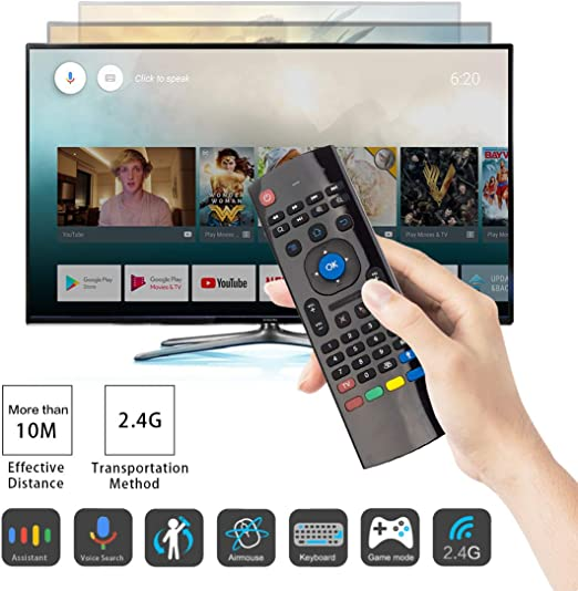 Remote Control for YouTube Browser for Toshiba 49U5863DB 49-Inch Black Wireless Mini Keyboard /& Mouse Easy Control