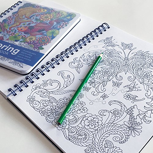 Coloring notebook 11 x 8 5 inches side bound notebook Coloring book notebook